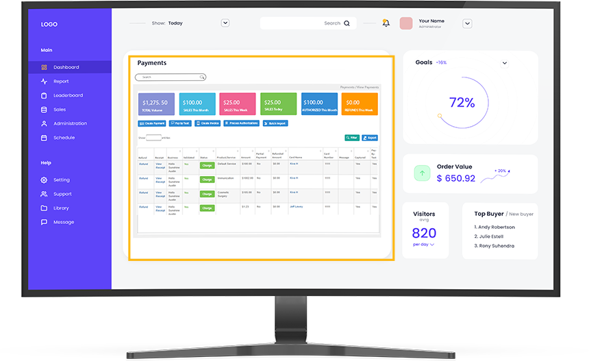 Everyware Payments Dashboard